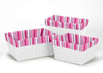 Sweet Jojo Designs 3 Piece Madison Basket Liner Set
