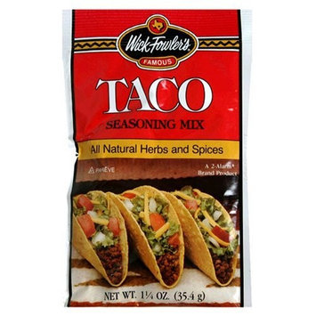 Wick Fowler's Products Taco Seasoning, 1.25-Ounce Boxes (Pack of 24)