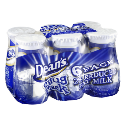 Dean's Chug Pack Milk 2% Reduced Fat - 6 CT