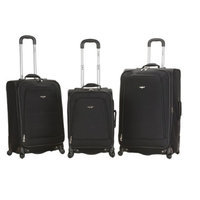 Fox Rockland Fusion Collection Spinner 3-Piece Luggage Set - Black