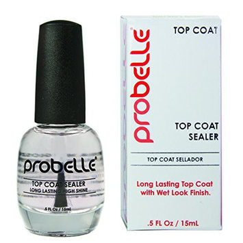 Probelle Ultra High Gloss Top Coat Sealer, Clear, .5 Fluid Ounce