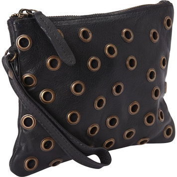 Sharo Leather Bags Little Leather Cosmetic Bag Very Dark Brown - Sharo Leather Bags Ladies Cosmetic Bags