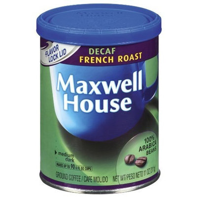 Maxwell House Decaf French Roast Ground Coffee, 11-Ounce Packages (Pack of 4)