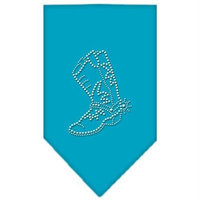 Mirage Pet Products 6714 SMTQ Boot Rhinestone Bandana Turquoise Small