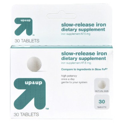 Up & Up Slow-Release Iron Tablets 30-pk.