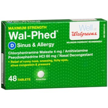 Walgreens Wal Phed Sinus Amp Allergy Tablets Reviews Find