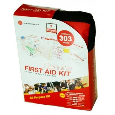 Genuine First Aid Kit, Soft Case, 303-piece Kit