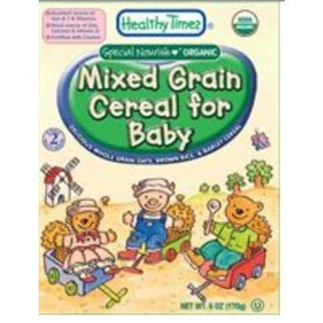 Healthy Times Organic Mixed Grain Cereal for Baby, 6-Ounce Boxes (Pack of 12)