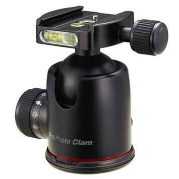 Photo Clam PRO 46NS Photo Clam Pro 46NS PRO Head With Friction Control 3 8 Inch Socket Side And Top Bubble Levels Black HEC0GBIPD-1609