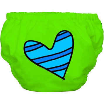 Winc Design Limited Charlie Banana Extraordinary Training Pants, Blue Petit Coeur on Green