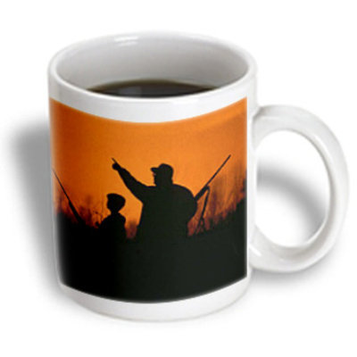 Recaro North 3dRose - Sandy Mertens Father Designs - Father and Son Hunting - 11 oz mug