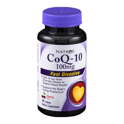 Natrol CoQ-10 100mg Dietary Supplement Fast Dissolve Tablets Cherry Flavor - 30 CT