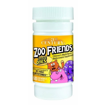 21st Century Zoo Friends Little Ones Chewable Tablets, 60-Count (Pack of 2)