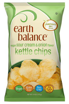 Earth Balance Vegan Sour Cream & Onion Kettle Chips