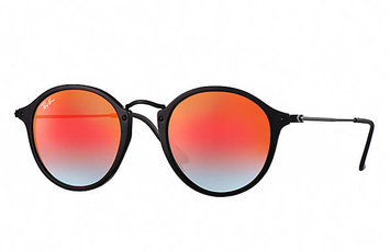 Ray Ban Round Fleck Flash Lenses Gradient