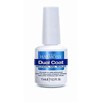 Hand Nail Harmony DUAL COAT Artificial Nail Sealer .5 oz
