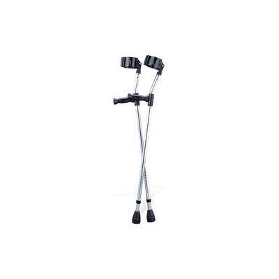 Medline G05160 Tall Adult Aluminum Forearm Crutches - 1 Pair