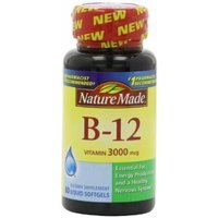 Nature Made Vitamin B-12 Softgels, 3000 Mcg, 60 CT (PACK OF 2)