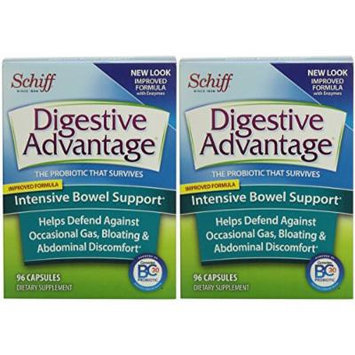 Digestive Advantage Intensive Bowel Support, 96 Counts Capsules (2 x 96 count)