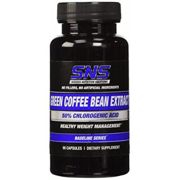 Serious Nutrition Solution Green Coffee Bean Extract Dietary Supplement Capsules, 90 Count