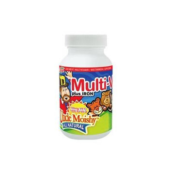 Uncle Moishy Multi-V plus Iron Chewable Zingy Cherry Flavor - 90 Chewables