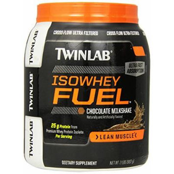 Twinlab Isowhey Fuel Protein Powder, Chocolate Milkshake, 2 Pound