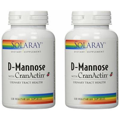 D-Mannose With CranActin Twin Pack Solaray 120 VCaps