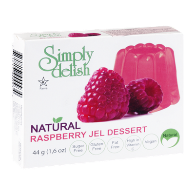 Simply Delish Natural Jel Dessert Raspberry