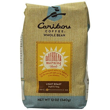 Caribou Coffee Daybreak Blend Whole Bean, 12-Ounce Bags (Pack of 2)
