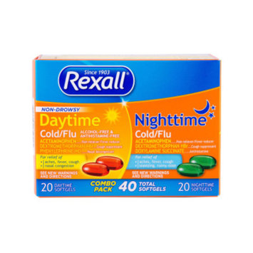 Rexall Cold & Flu - Day/Night Combo Pack, 40 ct