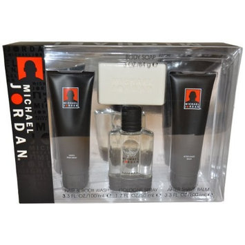 Michael Jordan Men Gift Set (Cologne, After Shave Balm, Hair and Body Wash, Body Soap)