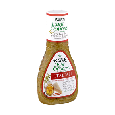 Ken's Light Options Italian with Romano & Red Pepper Dressing
