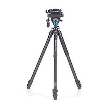 Benro A2573FS6 Video Fluid Head Tripod Kit Single Legs Carry Case w/Strap Incl.