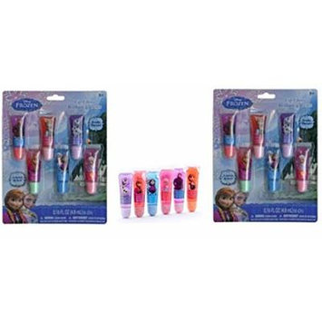 Disney Frozen 6 pc Lip Gloss Tube x 2 set