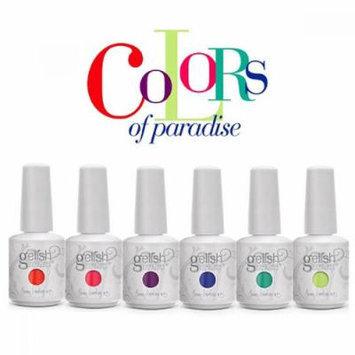 Hand Nail Harmony Gelish COLORS OF PARADISE Gel Polish 6 pc