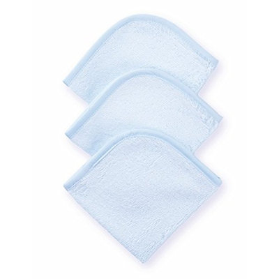 American Baby Company 3-Pack 100% Cotton Terry Washcloth Set, Blue (Discontinued by Manufacturer)