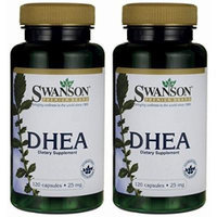 Swanson Premium DHEA 25mg -- 2 Bottles each of 120 Capsules