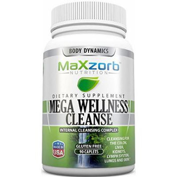 Body Dynamics 90 Caplets Mega Wellness Cleanse Internal Cleansing Complex