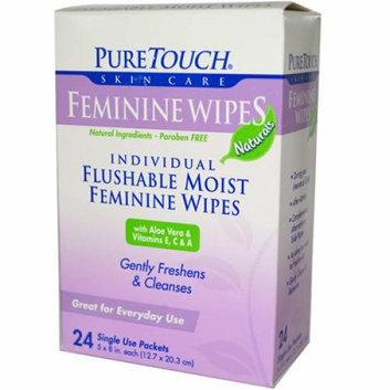 Puretouch Skin Care Puretouch Feminine Wipes Flushable 24 Wipes