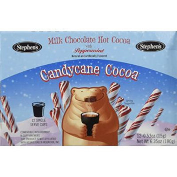 Stephen's Gourmet Single Cup Hot Cocoa, Candy Cane, 12 Count