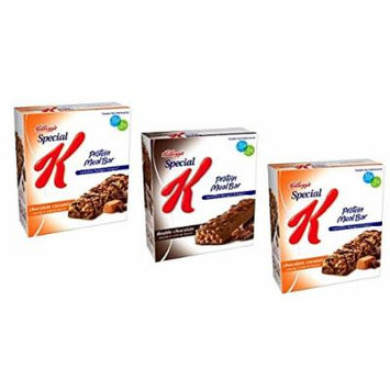 Special K Protein Meal Bar VARIETY PACK: 1 box of CHOCOLATE PEANUT BUTTER, 1 box of DOUBLE CHOCOLATE, 1 box of CHOCOLATE CARAMEL (3 PACK)