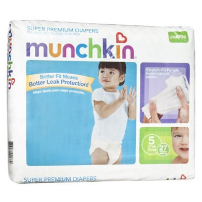 Munchkin Super Premium Diapers Jumbo Pack - Size 5 (27 Count)