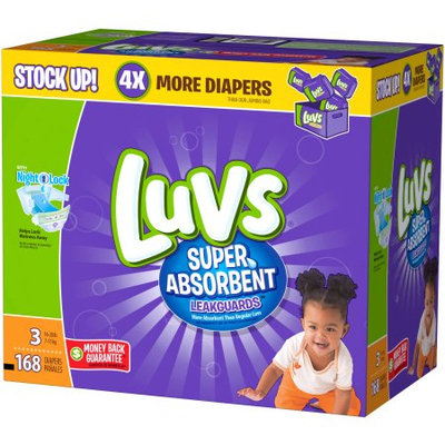 Luvs Super Absorbent Diapers, (Choose Your Size)