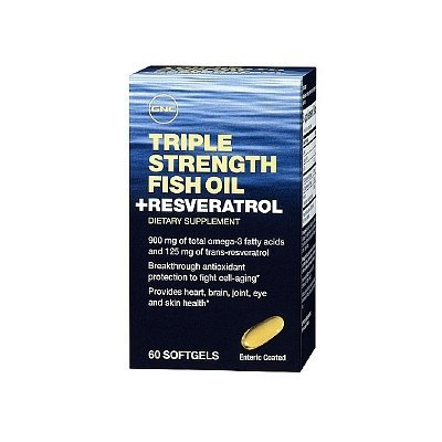 GNC Triple Strength Fish Oil plus Resveratrol