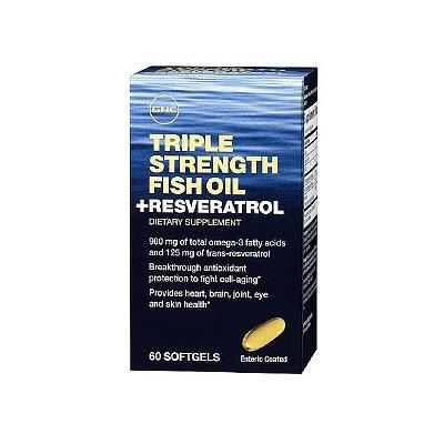 GNC Triple Strength Fish Oil plus Resveratrol