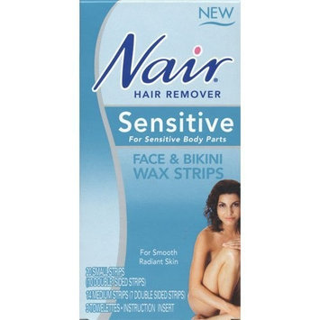 Nair Hair Remover Sensitive Formula Face & Bikini Wax Strips