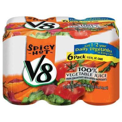 V8 Red V8 Spicy Hot 100% Red Vegetable Juice