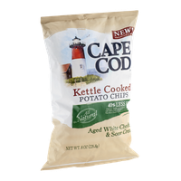 Cape Cod Kettle Cooked Reduced Fat Potato Chips Aged White Cheddar & Sour Cream