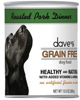 Dave's Pet Food Dave's Grain Free Roasted Pork Dinner Canned Dog Food