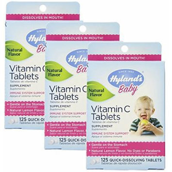 Hyland's Baby Vitamin C Tablets, 125 Count, Pack of 3